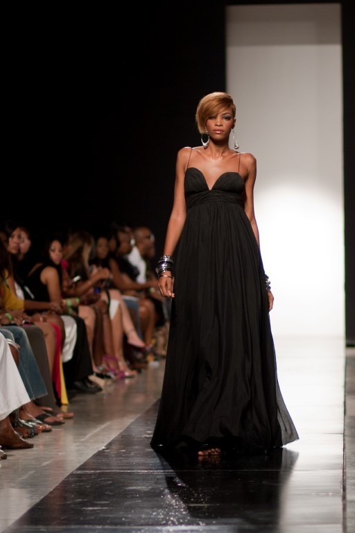 Long Black Empire Gown