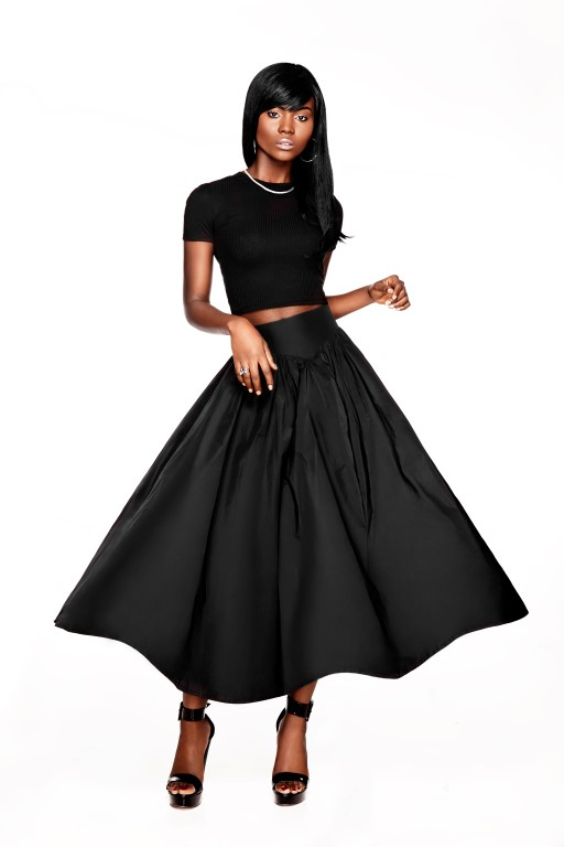 The Bossy Flared Midi-Skirt